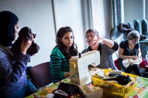 Repair Café met Syrische vluchtelingen in Groningen.